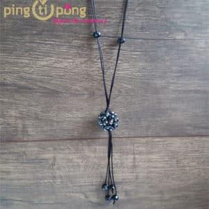 Bijou original : Sautoir perles noires PINGTIPONG