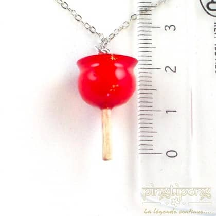 collier fantaisie pomme d'amour