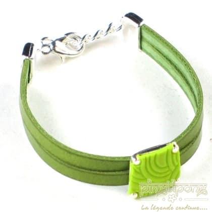 bracelet pastacuita trapeze green