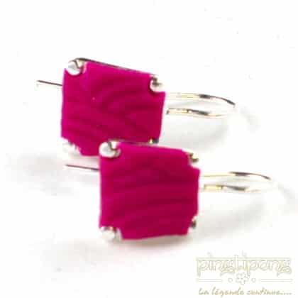 pastacuita earrings trapezium pink fuchsia