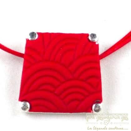 collier pastacuita trapèze rouge