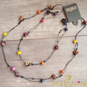 Bijou nature : Sautoir en peau d'orange et tagua GREENAGE