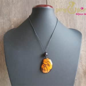 Bijou nature : Collier tagua jaune GREENAGE