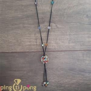Bijou fantaisie : Sautoir perles multico PINGTIPONG