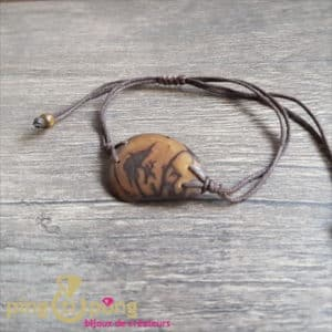 BIjou nature : Bracelet tagua marron GREENAGE