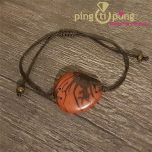 Bijou original : Bracelet tagua zebre orange GREENAGE
