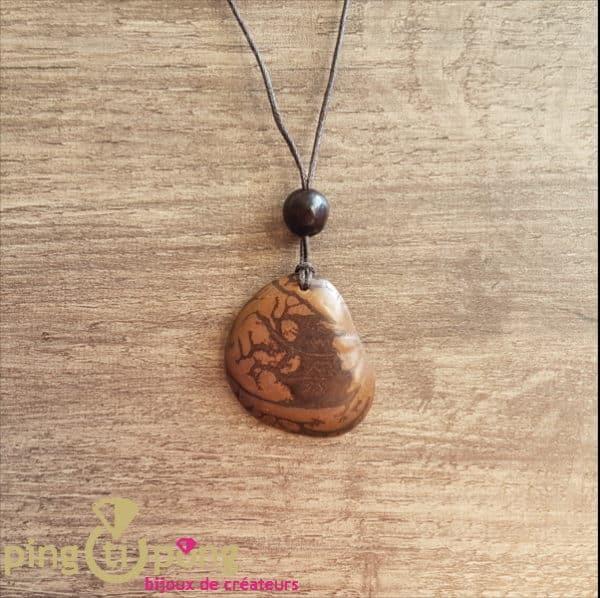 Bijou nature : Collier tagua beige GREENAGE