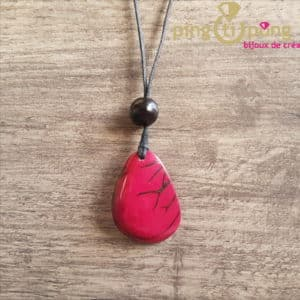 Bijou nature : Collier en tagua rose GREENAGE