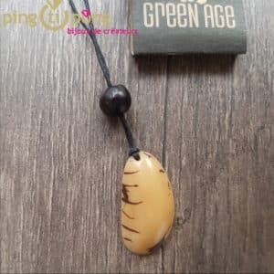 Bijou nature : Collier tagua nature GREENAGE