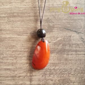 Bijou original : Collier tagua orange GREENAGE