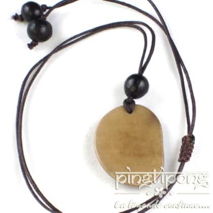 necklace green age tagua beige