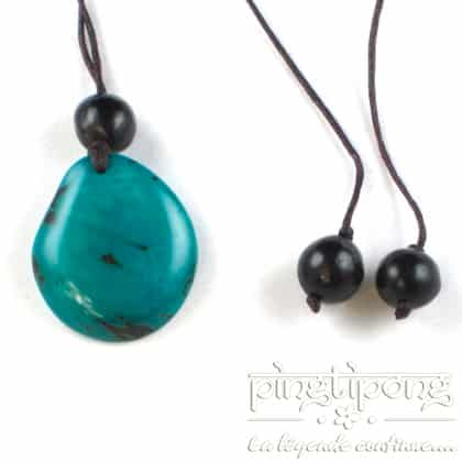 Collier Green Age en Tagua turquoise