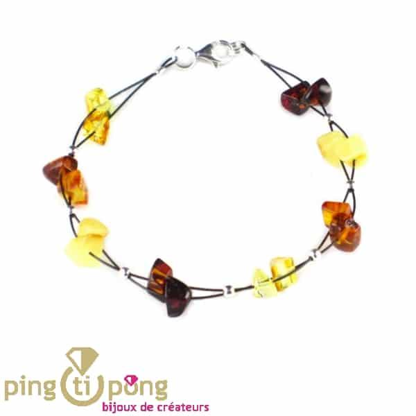 Bracelet avec perles d'ambre BALTICAMBRE