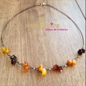 Collier d'ambre en perles d'ambre hawaii 4 couleurs BALTICAMBRE-0