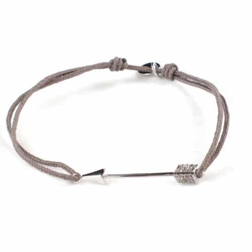 bijoux argent bracelet fleche taupe