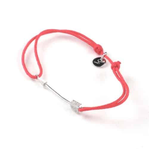 bracelet argent l'avare flèche rose