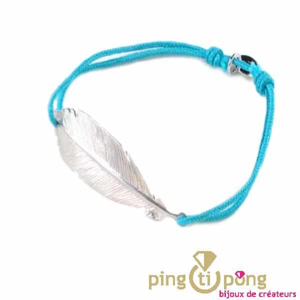 Bracelet L'avare plume argent