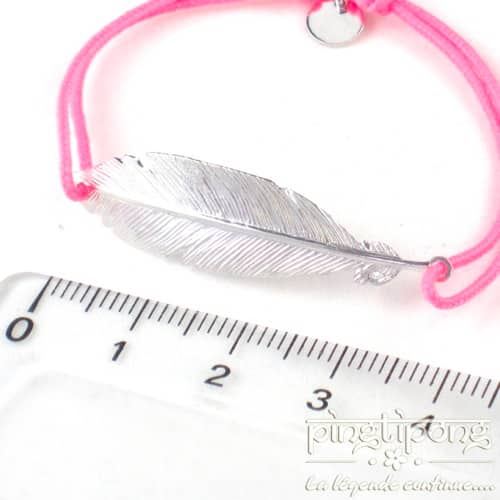 bijoux en argent bracelet plume rose l'avare