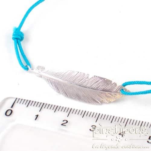 bracelets plumes en argent bijou fantaisie bleu pingtipong