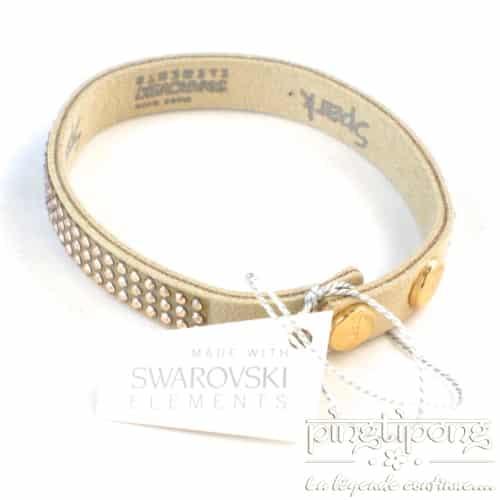 fancy bracelet spark beige alcantara and swarovski elements