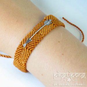 bracelet argent L by L'AVARE brésilien pour homme et femme jaune ocre