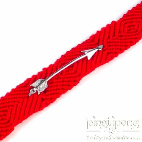 bijoux en argent brésilien rouge et flèche de L by L'avare homme et femme