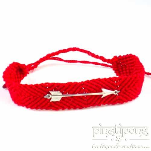 bracelet en argent brésilien rouge et flèche de L by L'avare homme et femme
