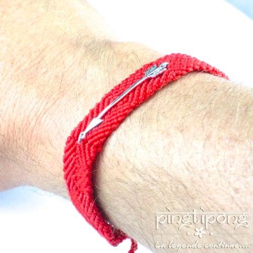bijoux argent homme brésilien rouge et flèche de L by L'avare homme et femme