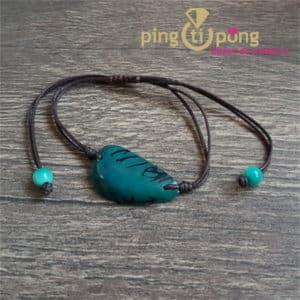 Bijou original : Bracelet tagua bleu GREENAGE