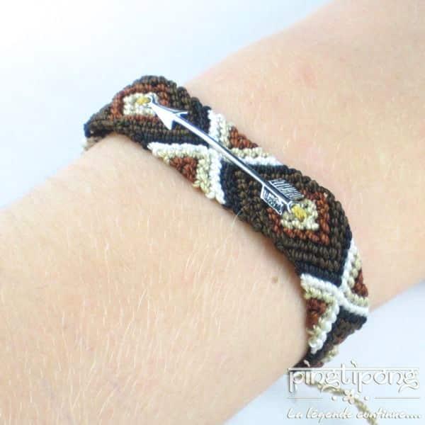 bracelets brésiliens marron beige blanc et noir pour homme et femme de L'AVARE