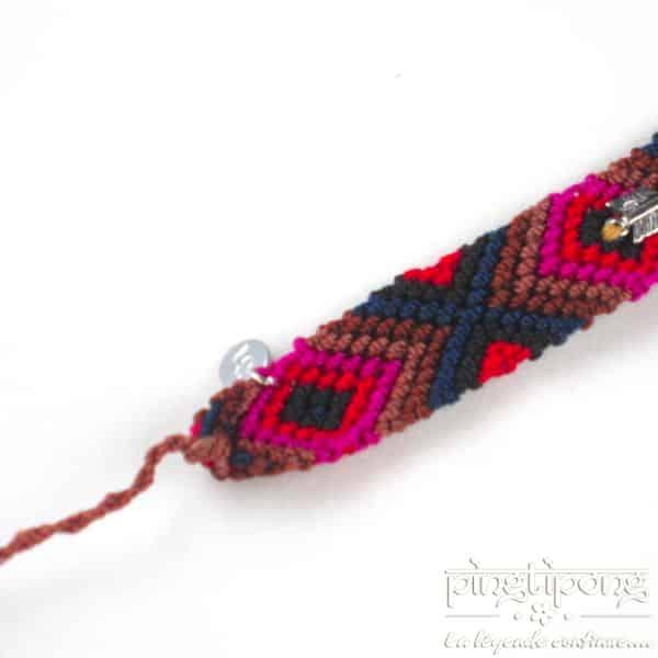 bracelet brésilien homme argent fleche rouge rose marron bleu de L by L'avare homme et femme