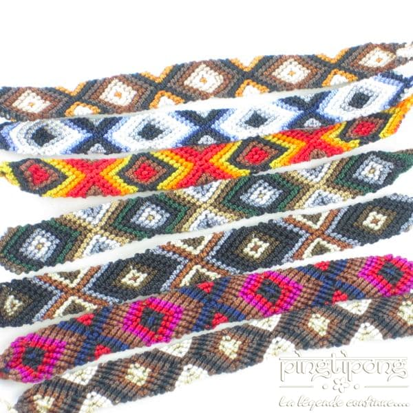 bracelets brésiliens tressés véritables de L'AVARE simples ou avec une flèche en argent