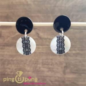 Bijoux en nacre : Boucles dentelle La Petite Sardine en nacre