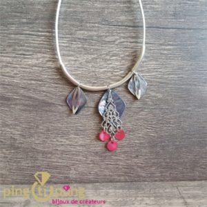 Bijou original : collier en coton ciré et nacre de La Petite Sardine