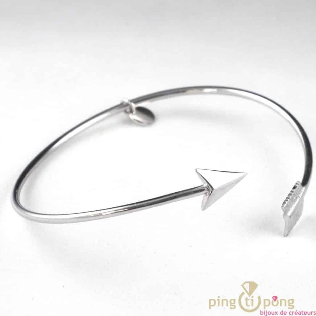 bracelet jonc argent de l'avare bijoux en forme de fleche
