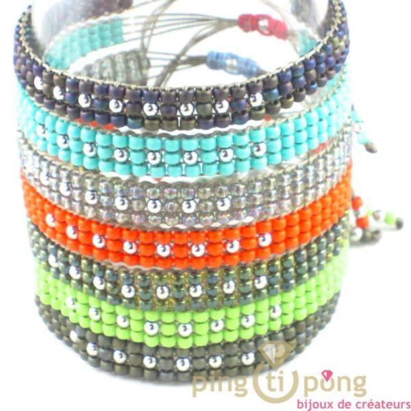 7 Bracelets en perles de toho et argent - L'AVARE bijoux