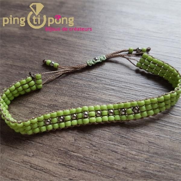 Bracelet Toho vert