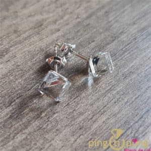 Original jewelry : White cubic Swarovski crystals earrings from SPARK