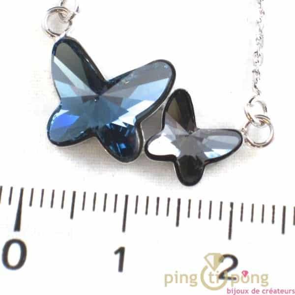 Swarovski jewelry butterfly SPARK blue and grey