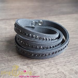 Bracelet Alcantara gris SPARK