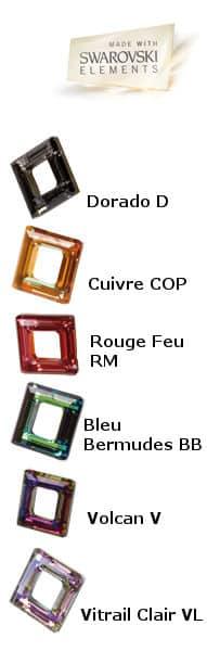 """couleurs du cristal de swarovski de la collection """"Eclatante passion"""""""