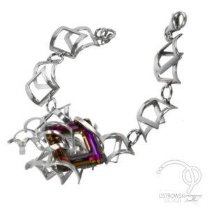 """Bracelet extraordinaire """"éclatante passion"""" de Ostrowski Design en argent et Swarovski"""