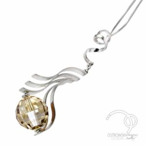 Collier GLOW de Ostrowski design en argent et cristal de Swarovski couleur cuivre