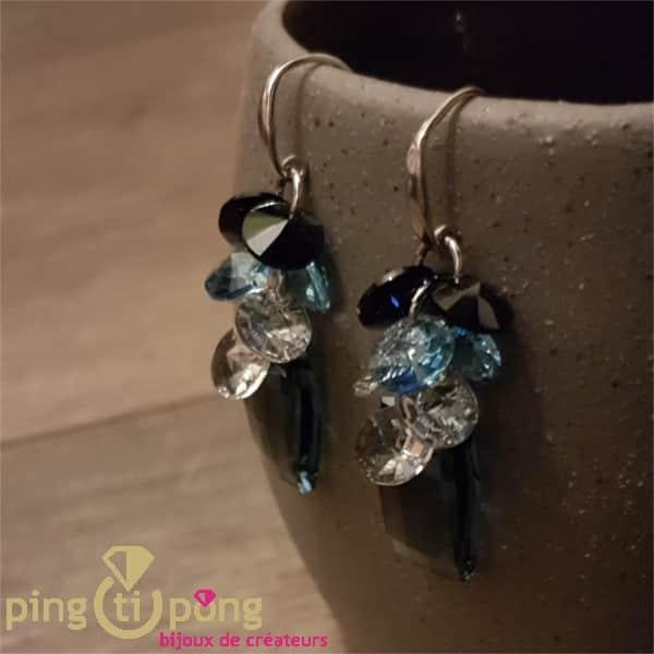 Boucles bouquet bleu SPARK
