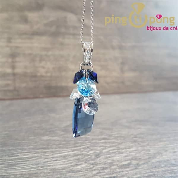 Collier bouquet bleu SPARK