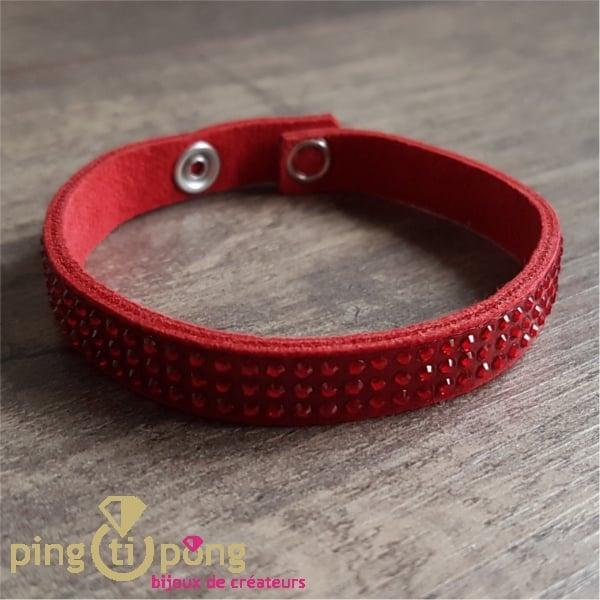 Bracelet rouge 3rgs SPARK