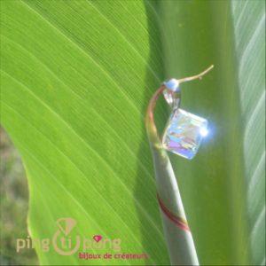 Pendentif Spark en forme de cube en cristal de Swarovski