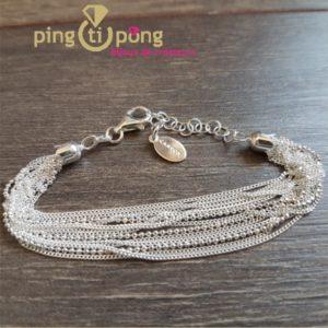 Bracelet argent multibrins CANYON