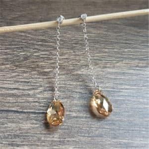 Bijoux originaux : Boucles en argent et cristaux de Swarovski de SPARK