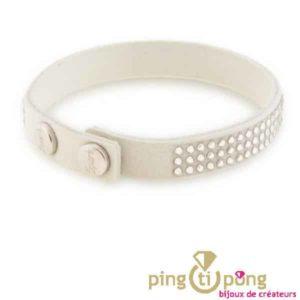 Bracelet en alcantara blanc de Spark